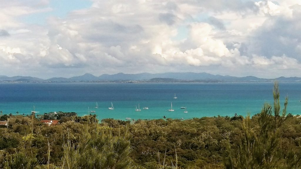 View from the Great Keppel Island lookout. Can you spot Red Dragonfly down there? 6 August 2017